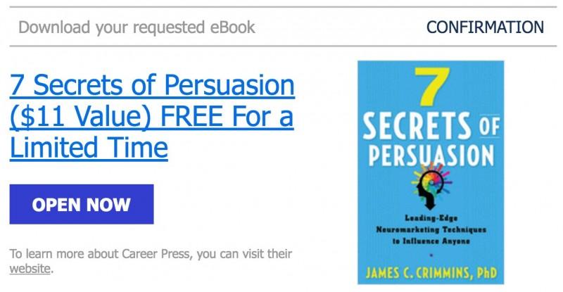Terbatas: Download Ebook 7 Rahasia Persuasi (Senilai $11, GRATIS!)