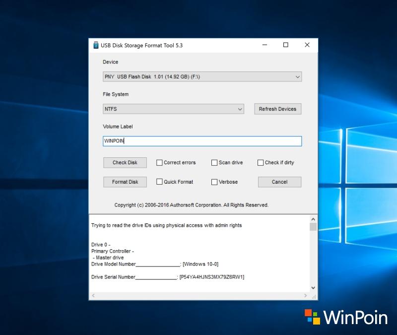 USB Flash Disk Format software