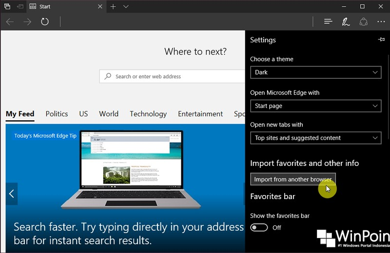 Cara Export Favorites dari Microsoft Edge (2)