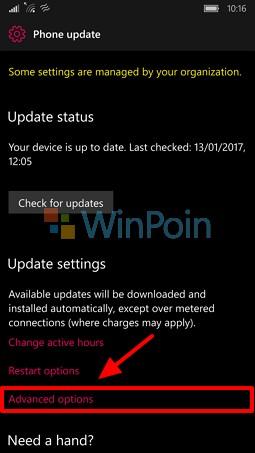 Selain App Reset, Fitur Pause Update juga Tersedia Pada Build 15007