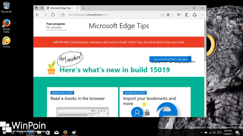 Windows 10 Build 15019 Peningkatan pada Microsoft Edge (1)