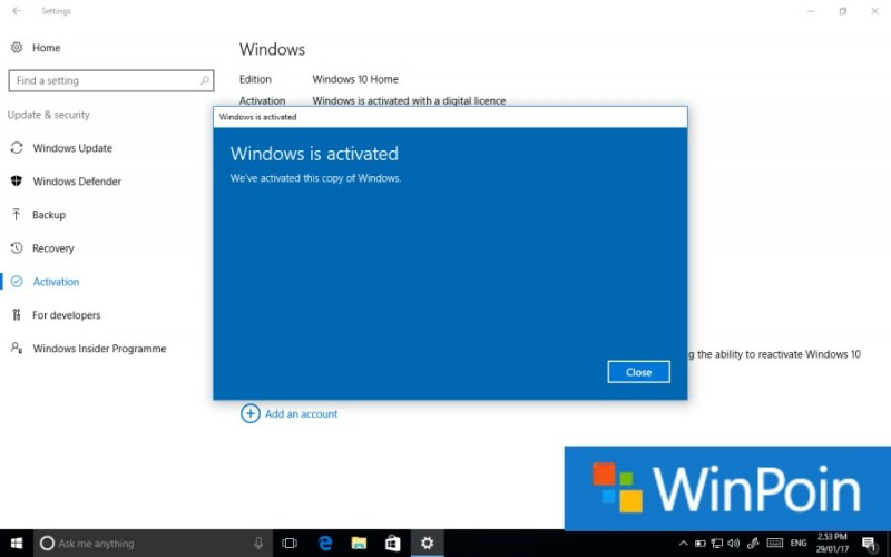 cara aktivasi windows 10 pro 2018