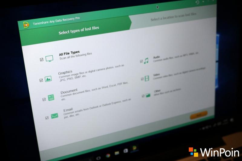 Mengembalikan File yang Hilang di Windows 10 dengan Any Data Recovery
