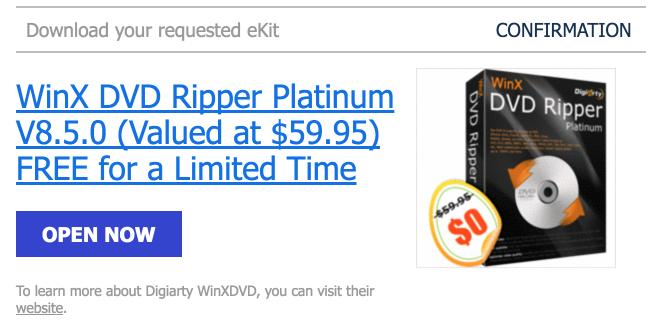 Gratis Terbatas: Dapatkan Lisensi WinX DVD Ripper Platinum (Versi Terbaru)