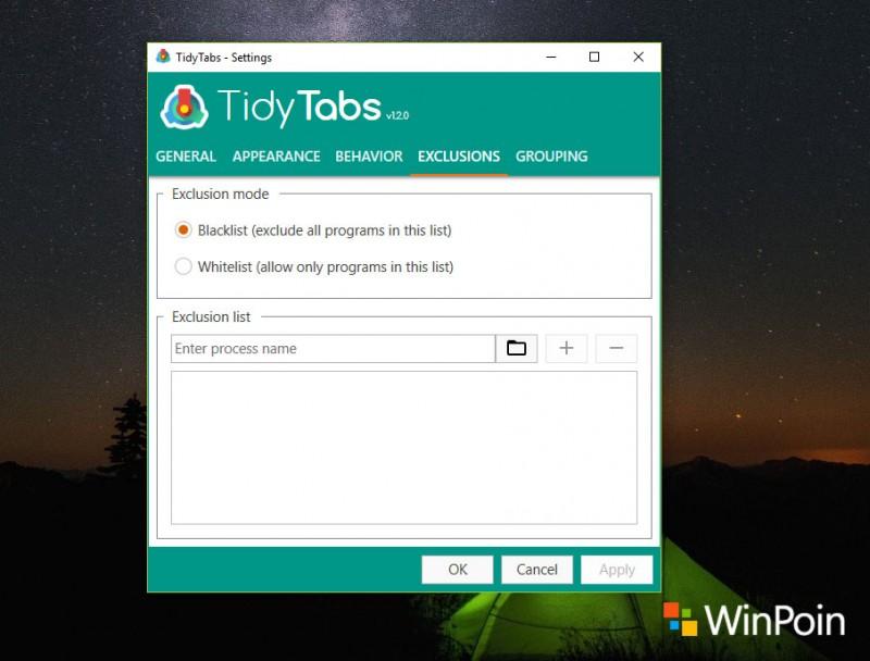 Atur dan Buat Tab untuk Semua Aplikasi Windows dengan TidyTabs