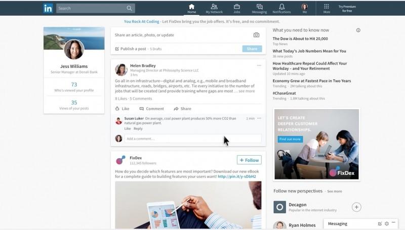 LinkedIn Ganti Desain, Kini Jadi Mirip Facebook