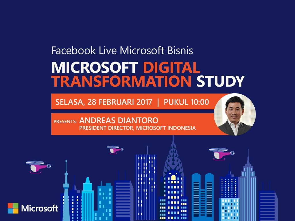 Simak Microsoft Digital Transformation Study di Facebook Live (Indonesia)