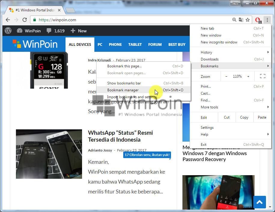 Cara Export Bookmark Google Chrome (2)