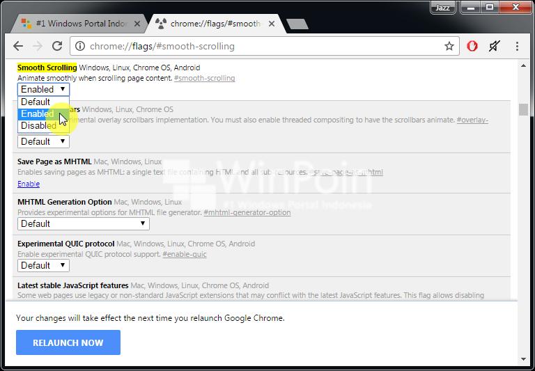 Cara Mengaktifkan Smooth Scrolling di Google Chrome (2)