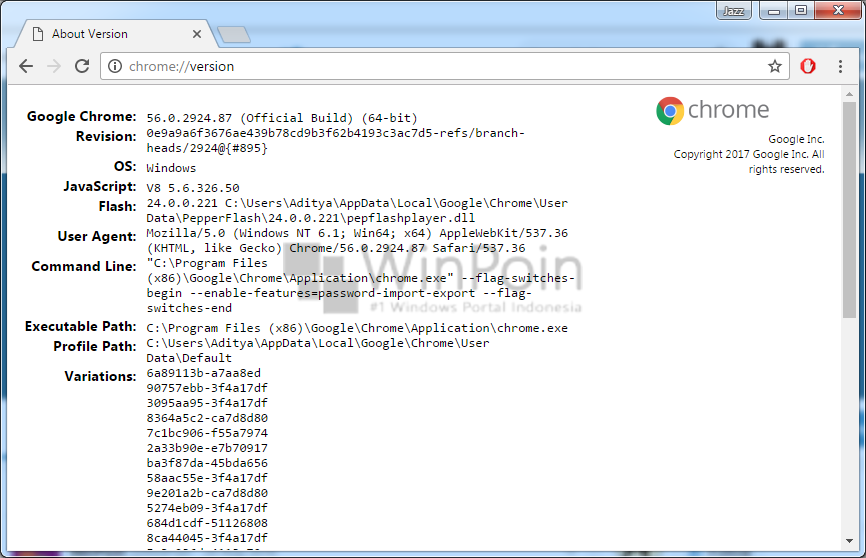 Cara Mengetahui Versi Google Chrome tanpa Melakukan Update (3)