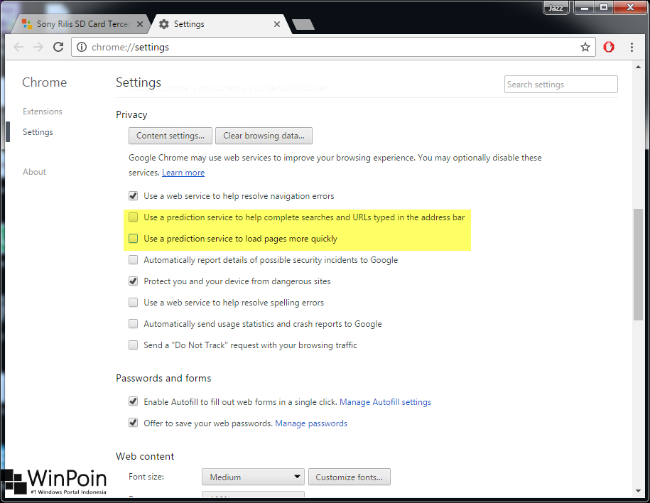 Cara Menonaktifkan Page Prediction di Google Chrome (3)