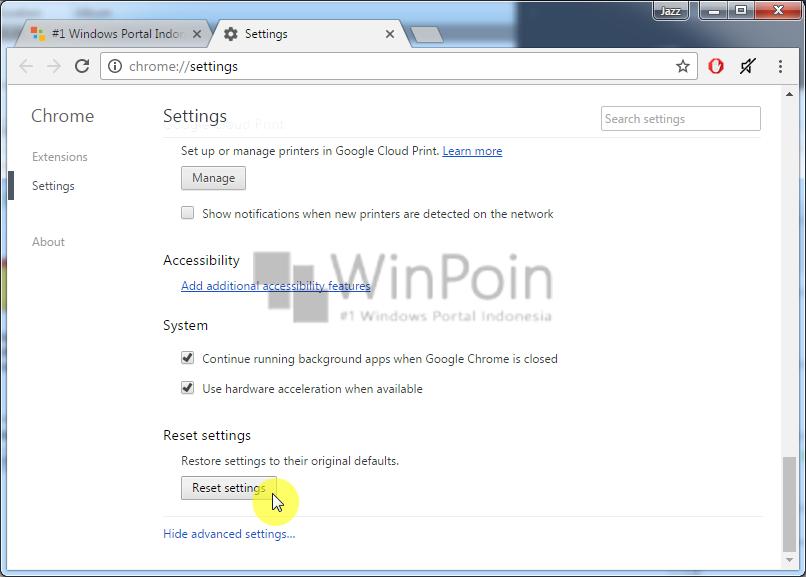 Cara Reset Pengaturan Google Chrome (3)