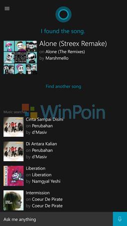 Cara Mengetahui Judul Lagu dengan Cortana