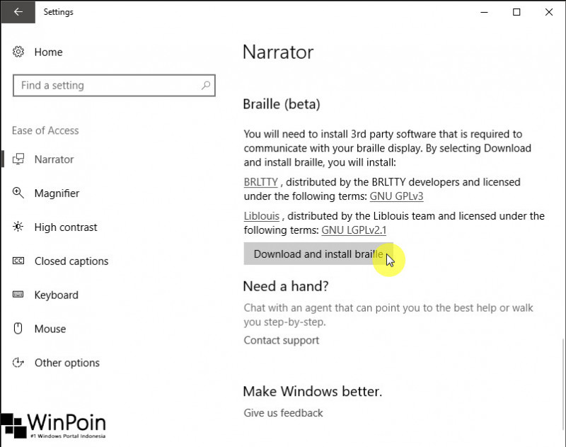 Windows 10 Build 15025 Fitur Baru pada Ease of Access (2)