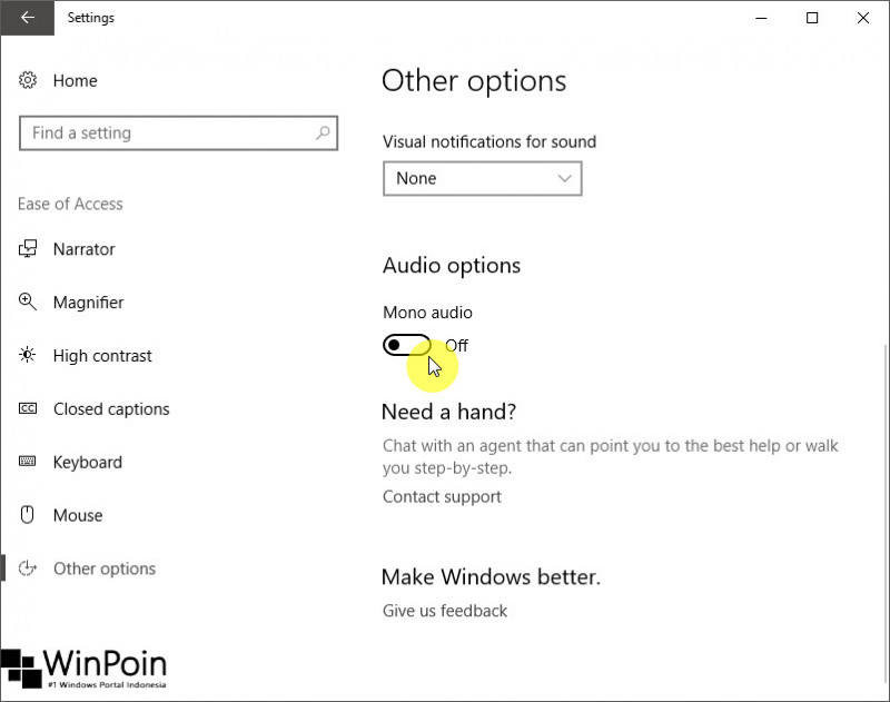 Windows 10 Build 15025 Fitur Baru pada Ease of Access (6)