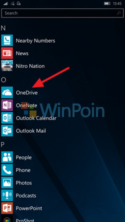 Cara Mengaktifkan Live Tile di OneDrive (Windows 10 Mobile)