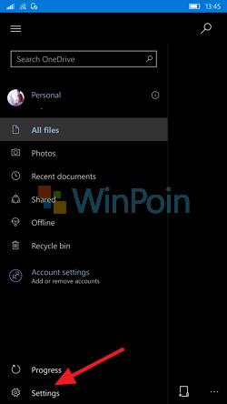 Cara Mengaktifkan Live Tile di OneDrive (Windows 10 Mobile)