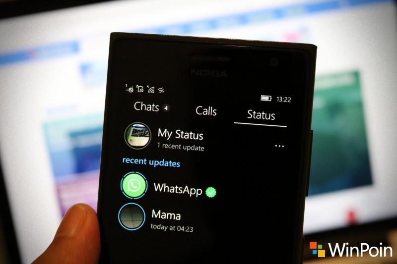 Cara Update Status WhatsApp di Windows 10 Mobile (Beserta Panduan Lengkapnya)