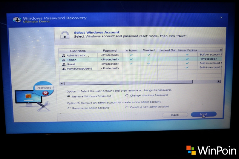 Mengatasi Lupa Password Windows 7 dengan Windows Password Recovery