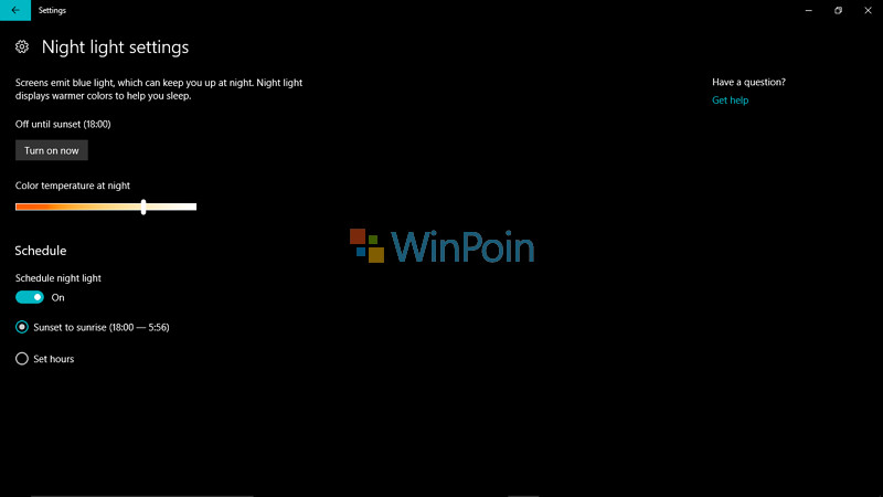 Cara Mengatur Night Light di Windows 10 Creators Update