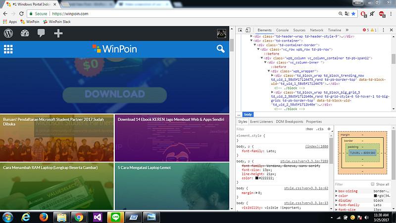 Cara Membuat Screenshot Web dengan Frame Smartphone di Google Chrome (2)