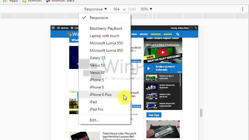Cara Membuat Screenshot Web dengan Frame Smartphone di Google Chrome (4)