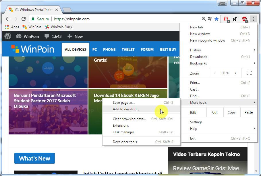 Cara Membuat Shortcut Halaman Web Menggunakan Google Chrome (2)