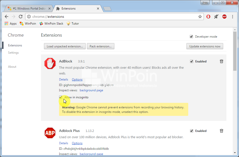 Cara Menggunakan Ekstensi Chrome pada Incognito Mode (3)