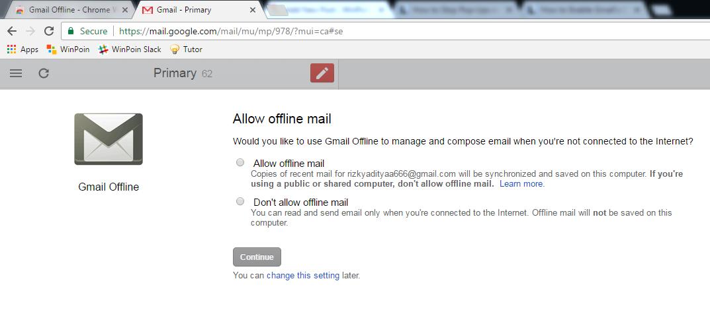 Cara Menjalankan Gmail Secara Offline di Google Chrome (3)