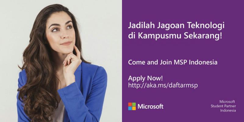 Pendaftaran Microsoft Student Partner 2017 Sudah Dibuka