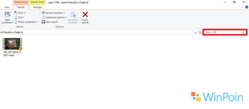 Cara Mencari File Berukuran Besar di Windows 10