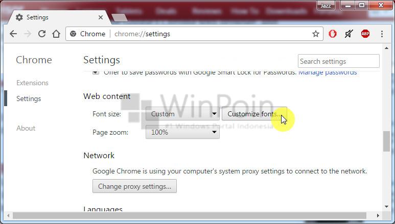 Cara Mengganti Font di Google Chrome (2)