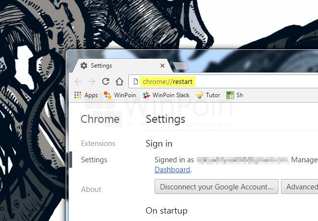 Cara Restart Google Chrome tanpa Menutup Tab yang Aktif