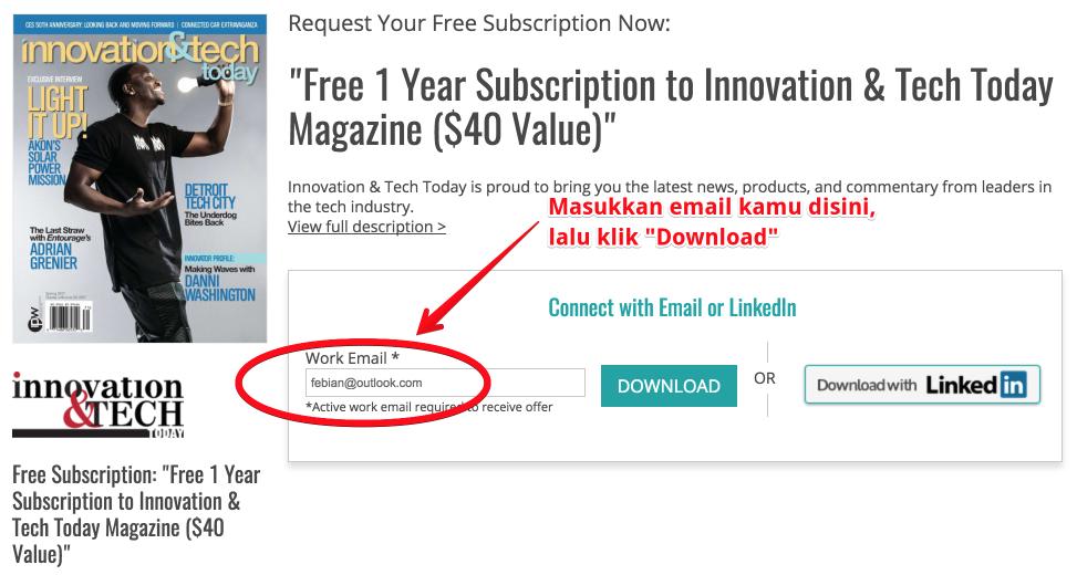 Gratis 1 Tahun Berlangganan Majalah Teknologi (Terbatas)
