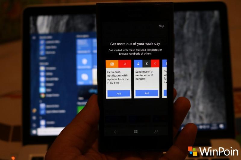 Microsoft Flow Sudah Dirilis untuk Windows 10 Mobile