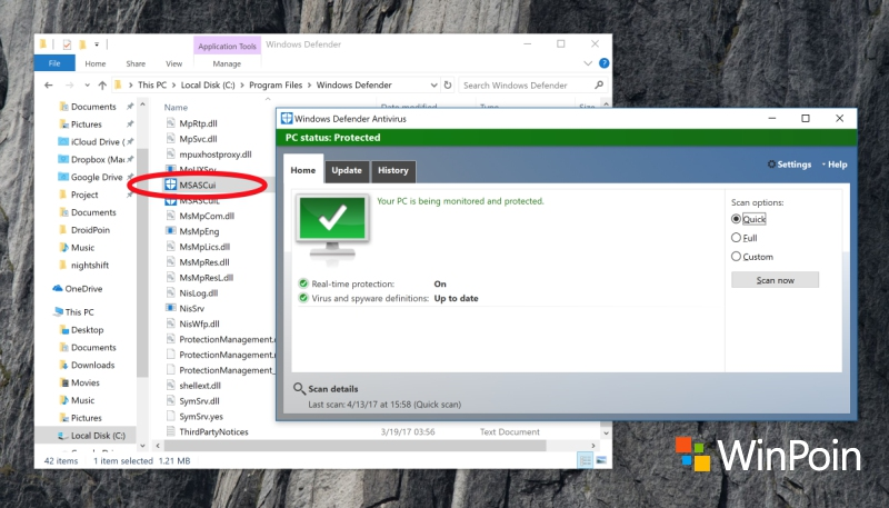 "Cara Menjalankan Windows Defender ""Klasik"" di Windows 10 Creators Update"