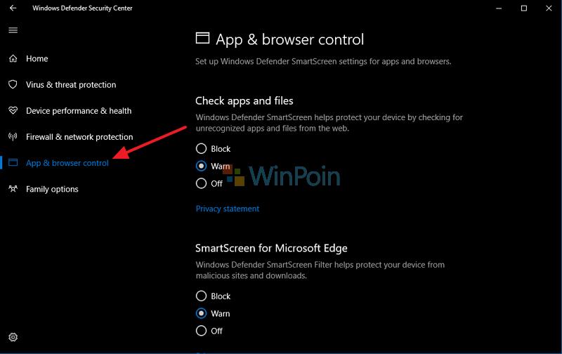 Cara Menonaktifkan SmartScreen Filter di Windows 10