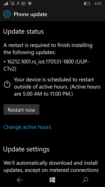 Microsoft: Jangan Lakukan Update ke Build Windows 10 Mobile Terbaru!