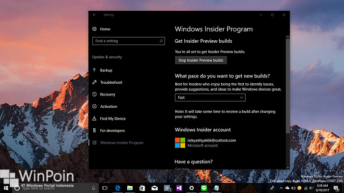 Cara Beralih dari Slow Ring ke Fast Ring Windows 10 (1)