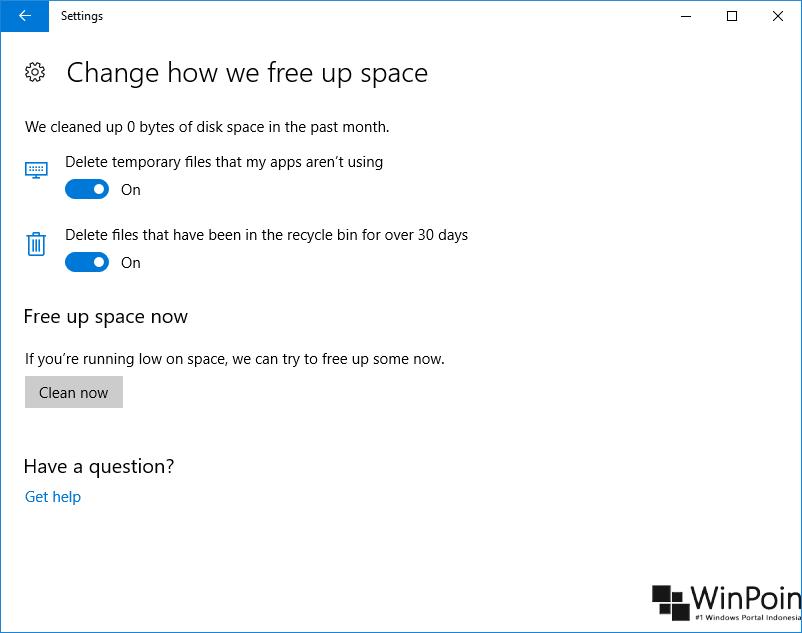Cara Membersihkan Storage Otomatis di Windows 10 (2)