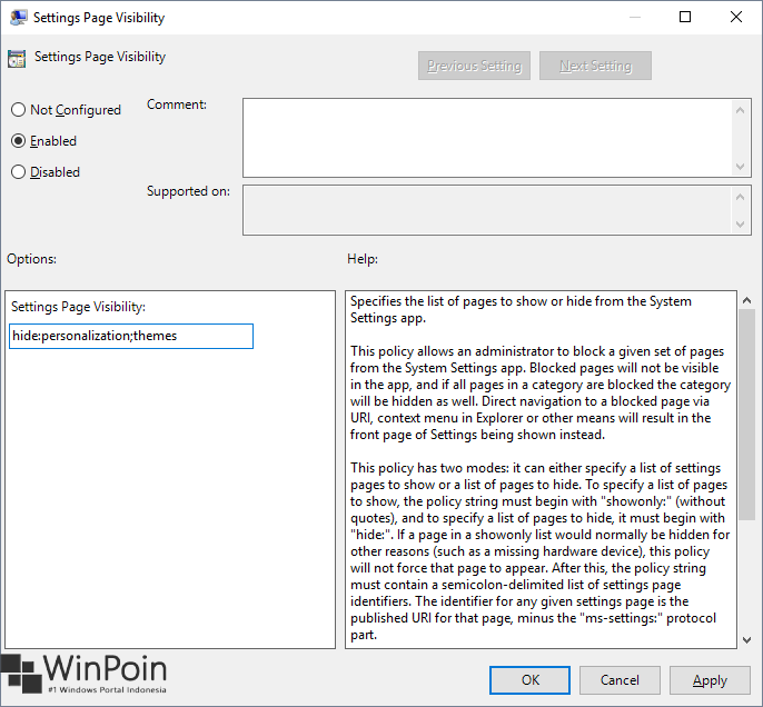 Cara Menyembunyikan Halaman Settings di Windows 10 (2)