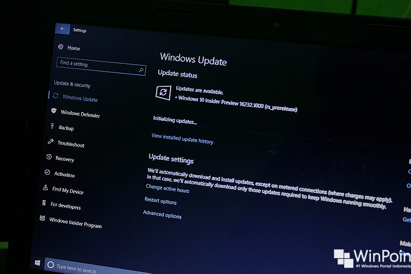Daftar Perbaikan dan Permasalahan di Windows 10 PC Build 16232
