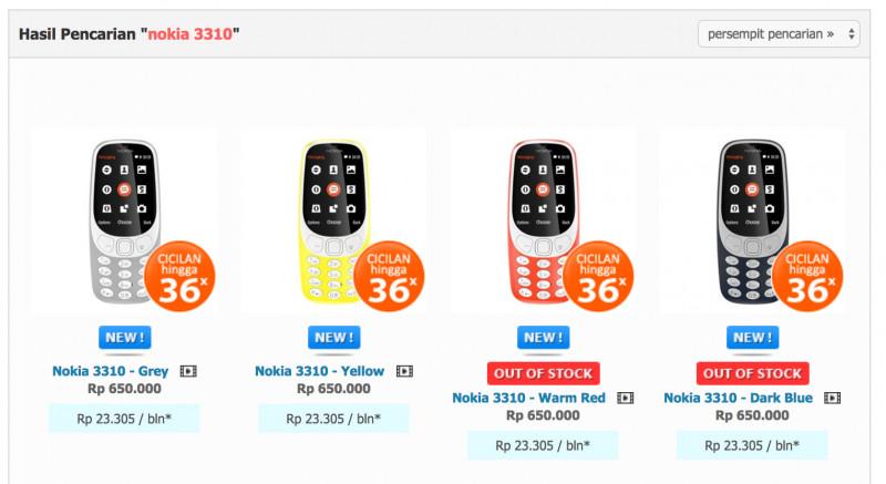 Nokia 3310 'Reborn' Dijual di Indonesia, Ini Harganya!