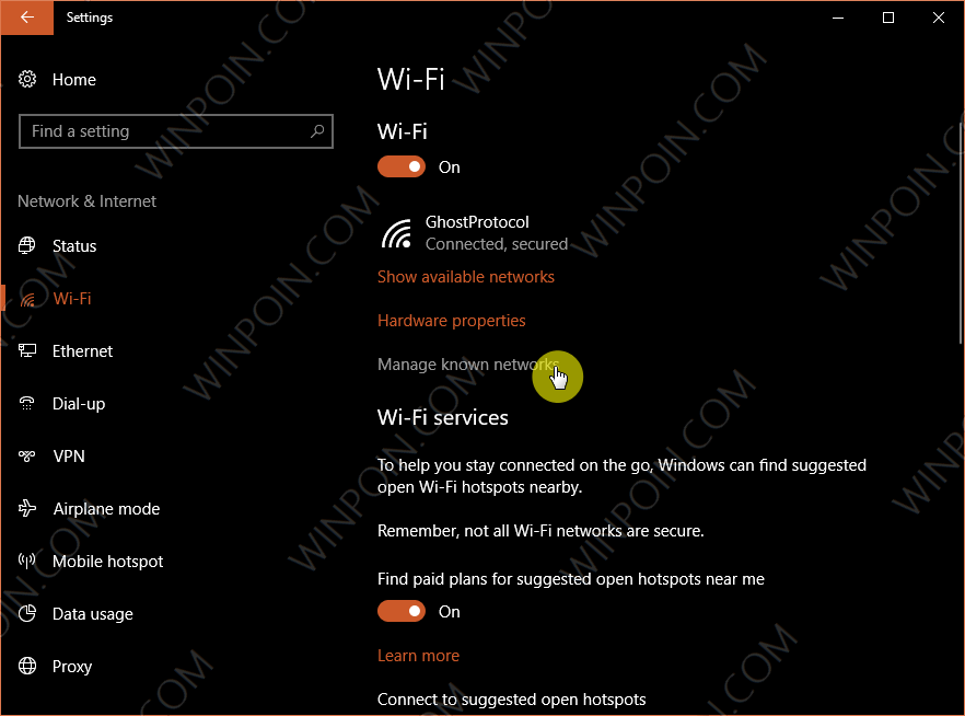 Cara Forget WiFi di Windows 10 (2)
