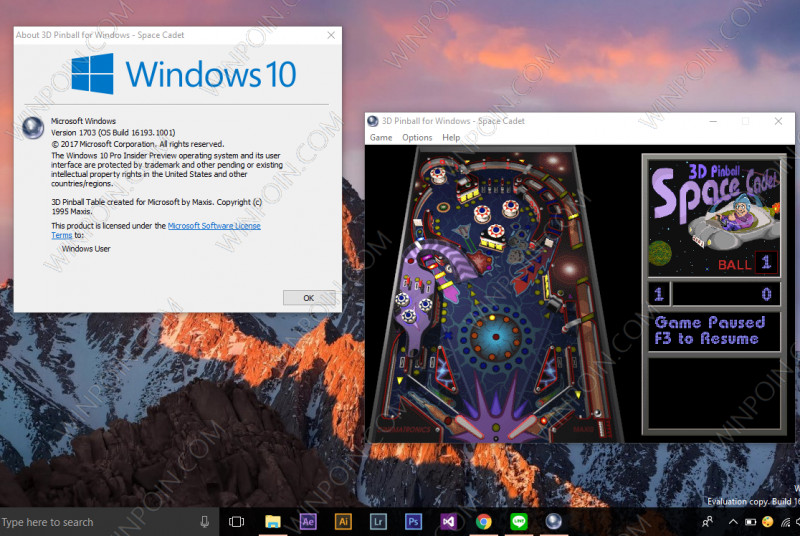 Cara Memainkan Game 3D Pinball Space Cadet di Windows 10 (3)