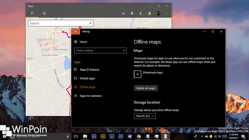 Cara Menyimpan Offline Maps pada Drive Lain di Windows 10 (1)