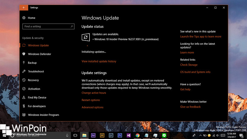 Windows 10 Build 16237 Dirilis ke Fast Ring 1