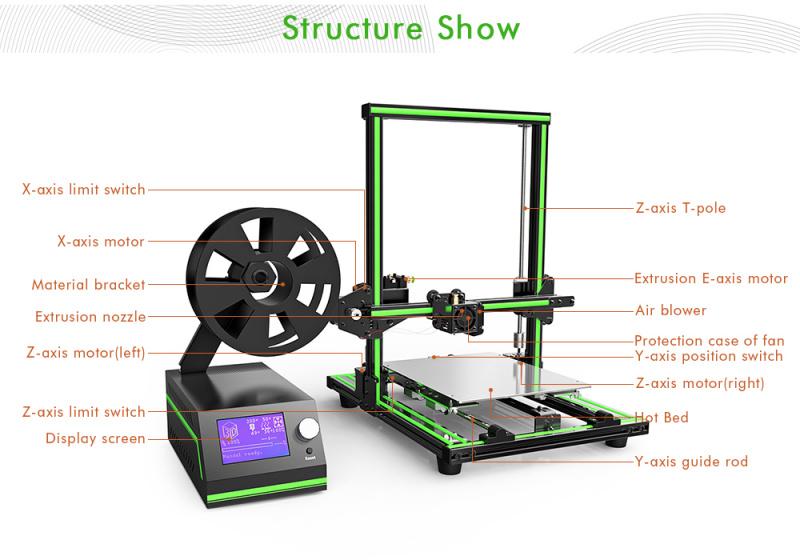 Anet E10: 3D Printer Terbaru Anet dengan Aluminum Frame (Diskon)