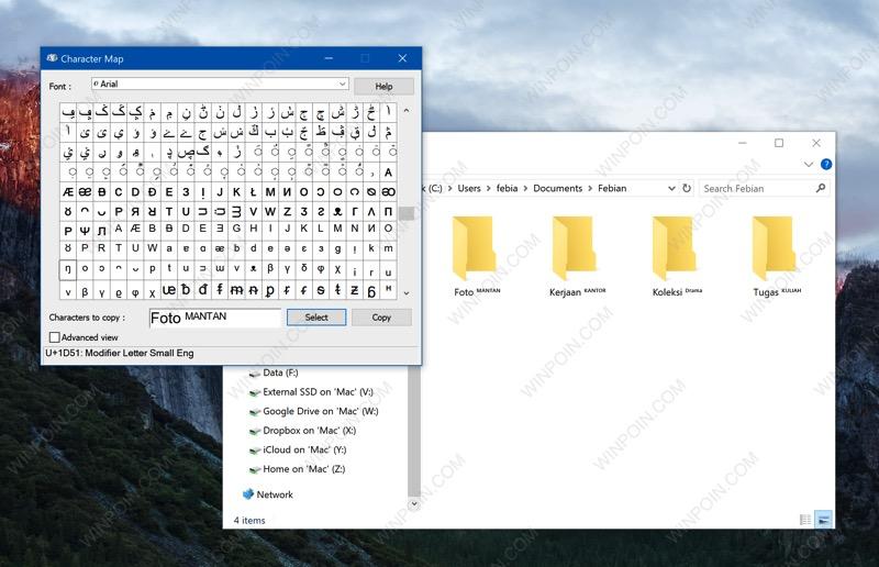 "Membuat Nama Folder Unik ala ""Superscript"" di Windows"