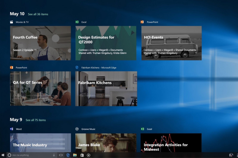 Fitur Timeline Windows 10 Ditunda, Batal Rilis di Fall Creators Update